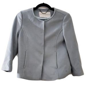 Annie Griffin Glacial Blue Wool Blend Blazer XS